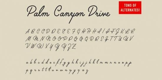 Palm Canyon Drive font free