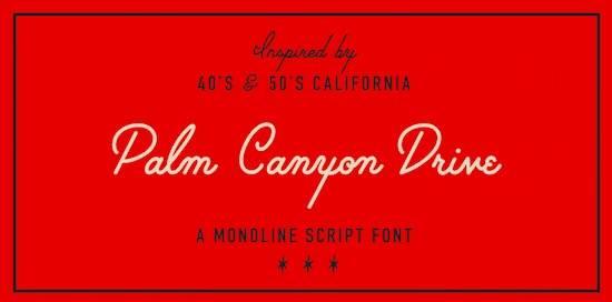 Palm Canyon Drive font free download