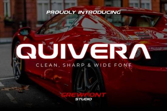 Quivera Font features