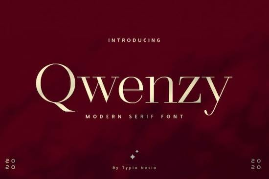 Qwenzy font free download