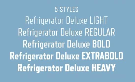 Refrigerator Deluxe font free