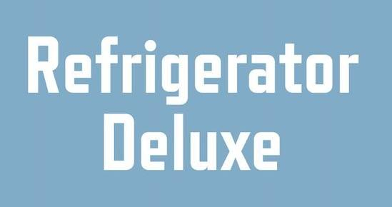 free Refrigerator Deluxe font