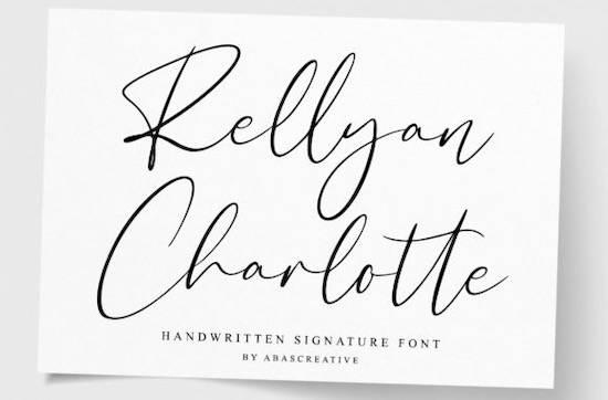 Rellyan Charlotte font free download