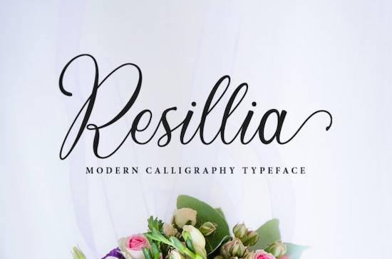 Resillia font free download
