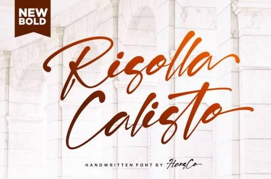 Risolla Calisto Font free download
