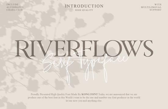 Riverflows font free download
