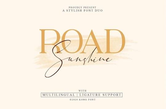 Road Sunshine Font Duo free download