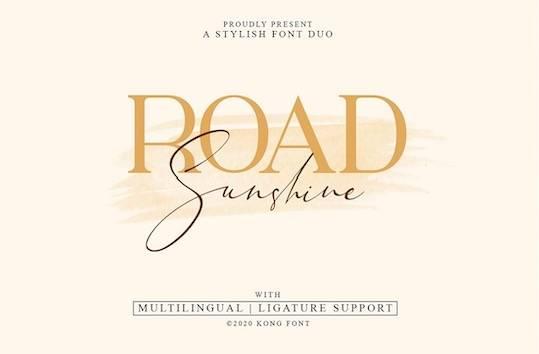 Road Sunshine Font Duo free download