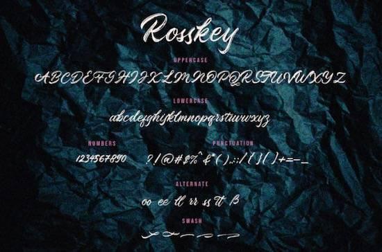 Rosskey Brush Font