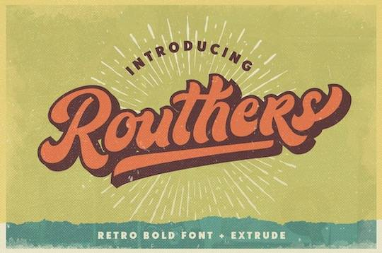 Routhers Retro Bold font free download