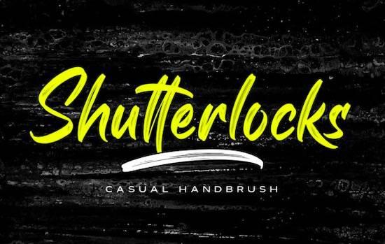 Shutterlocks font free download