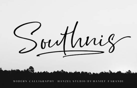 Southnis font download