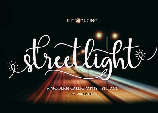 Streetlight font free