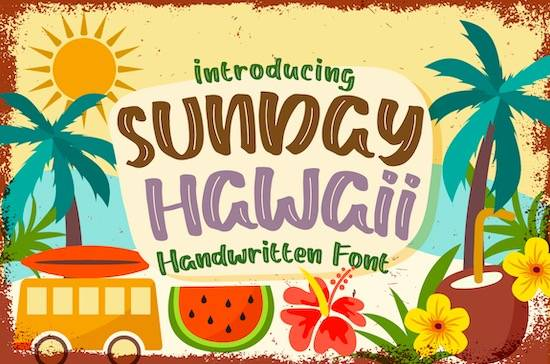 Sunday Hawaii font free download