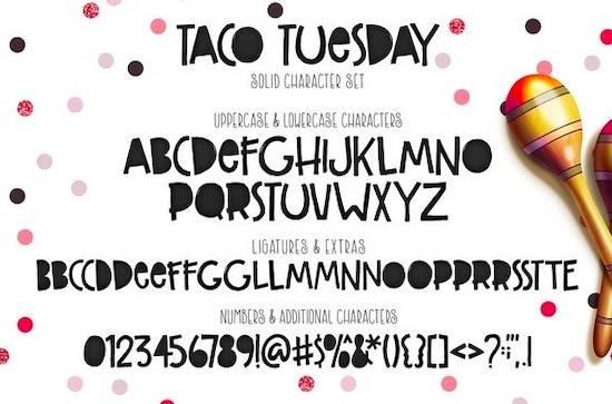 Taco Tuesday font