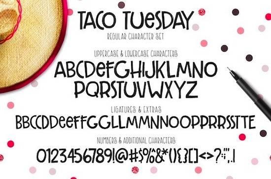 Taco Tuesday font free