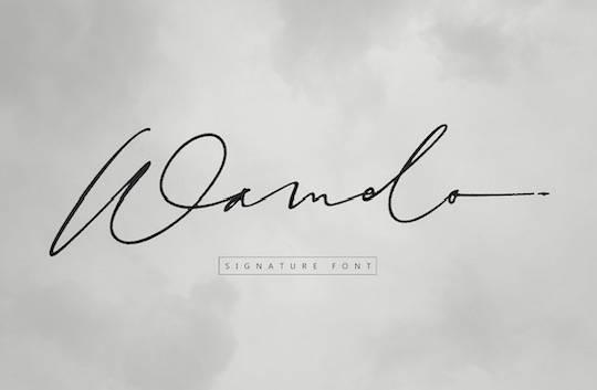 Wamelo font free download