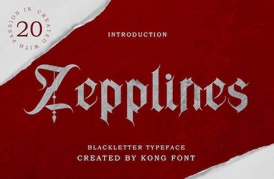 Zepplines font download