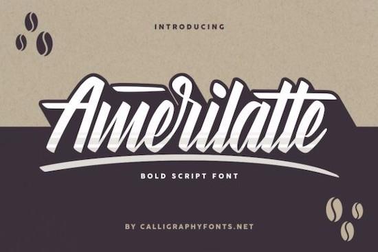 Amerilatte font