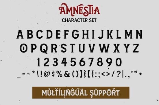 Amnestia font download