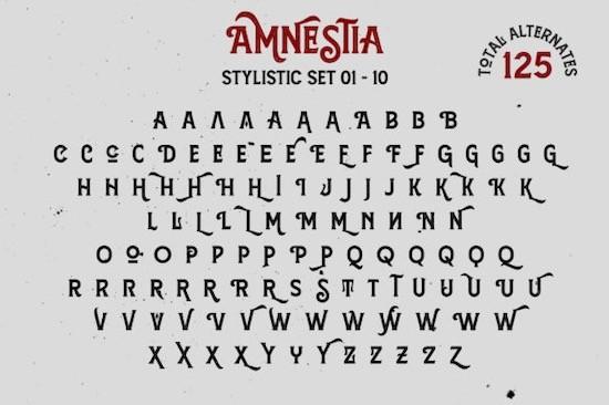 Amnestia font free download