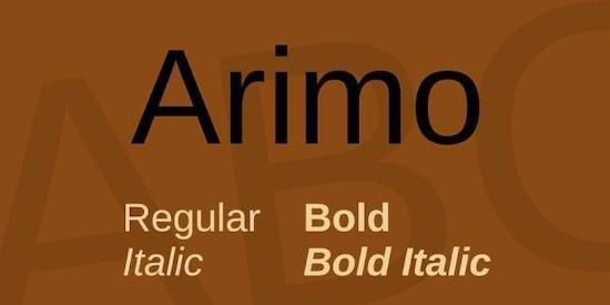 Arimo font free