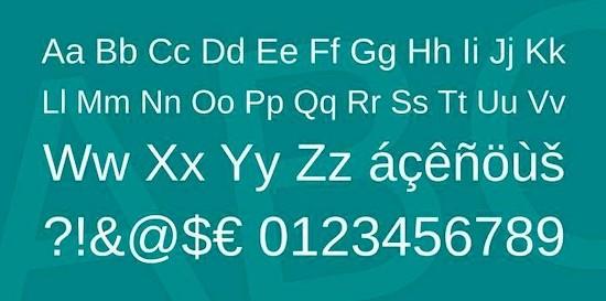 Arimo font