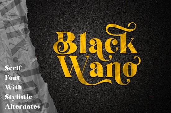 Black Wano font