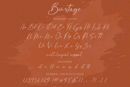 Bonstage font download