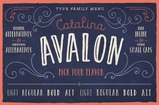 Catalina Avalon font