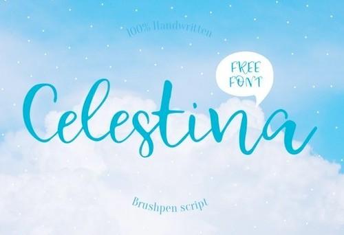 Celestina font feature