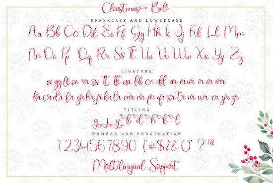 Christmas Bell font free
