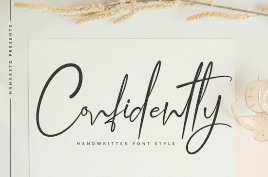 Confidently font