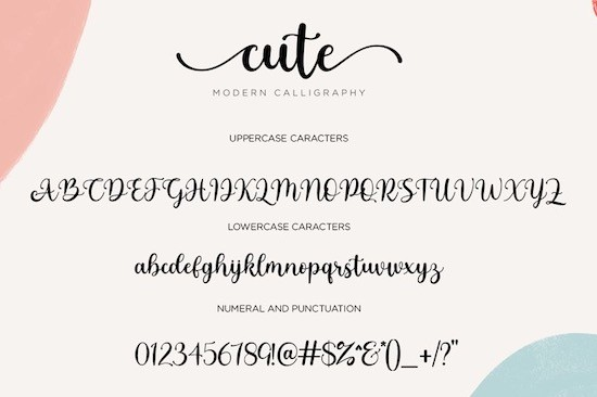 Cute Font free download