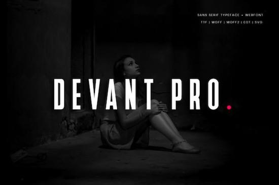 Devant Pro font free