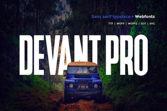 Devant Pro font