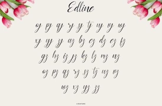 Edline font free download