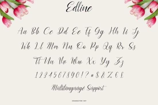 Edline font free
