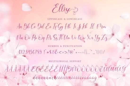 Ellise font download