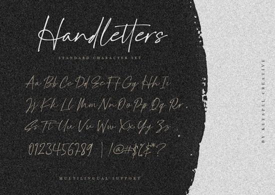 Handletters font free download