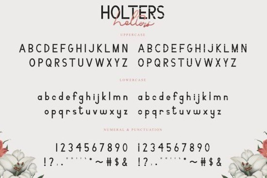 Holters Font Duo free