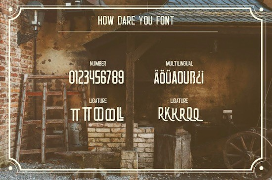 How Dare You font download