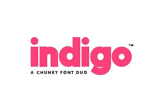 Indigo Sans font Duo