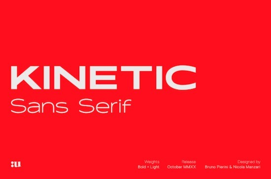 Kinetic font free download