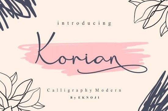 Korian font free download