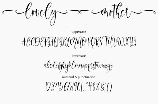 Lovely Mother font download