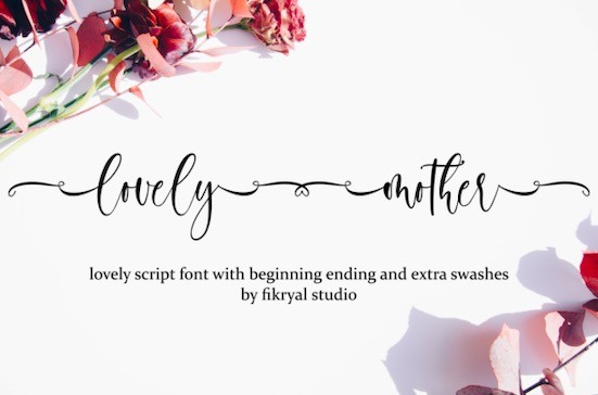 Lovely Mother font free download