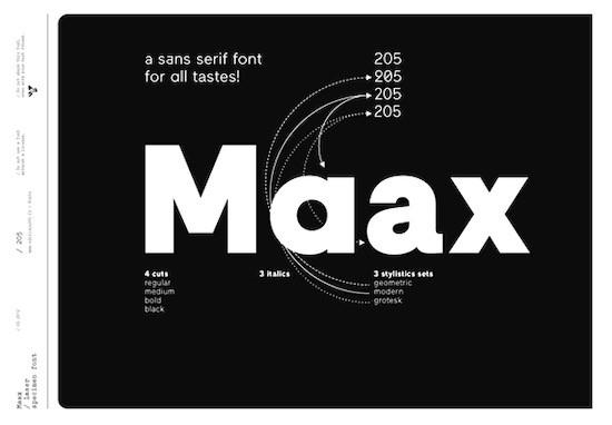 Maax font free