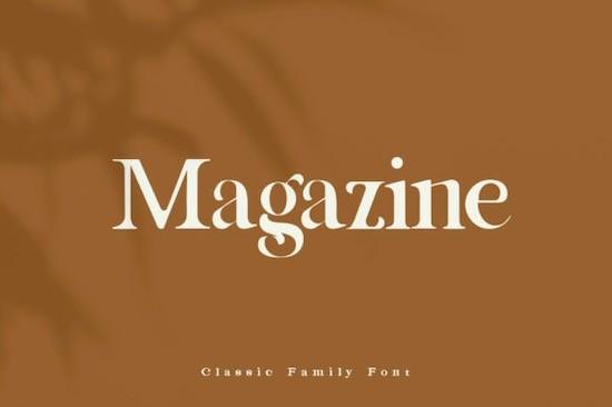 Magazine Classic font