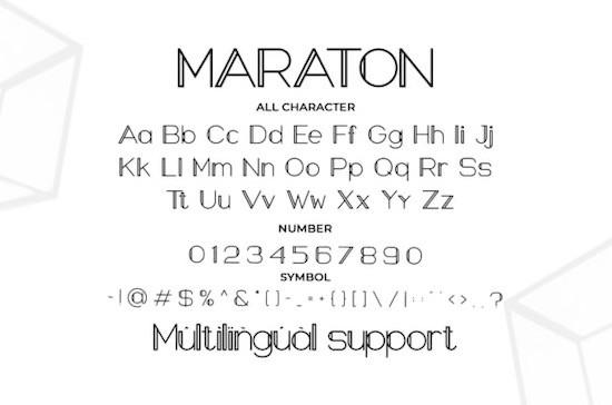 Maraton font free